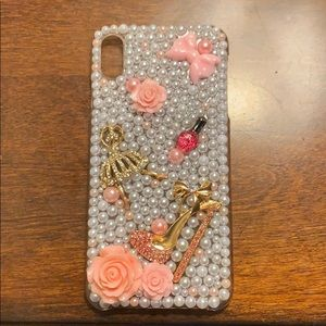 iPhone XS Max case. Pearls and Heels